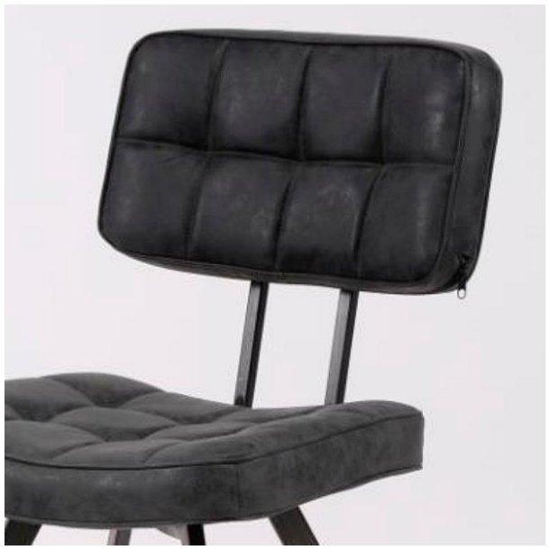 Superbly Open- Spisebordsstol i stål og sort læder - Stole med metalben - 3 AT38