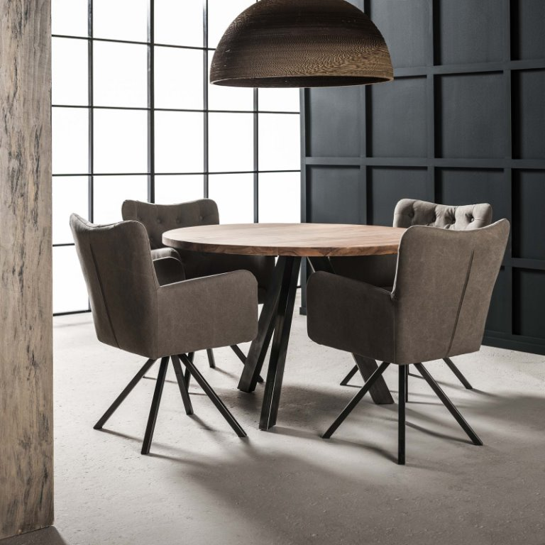 Jabb - Spisebord ø 120 cm., massiv akacie træ - Spiseborde i massiv ...