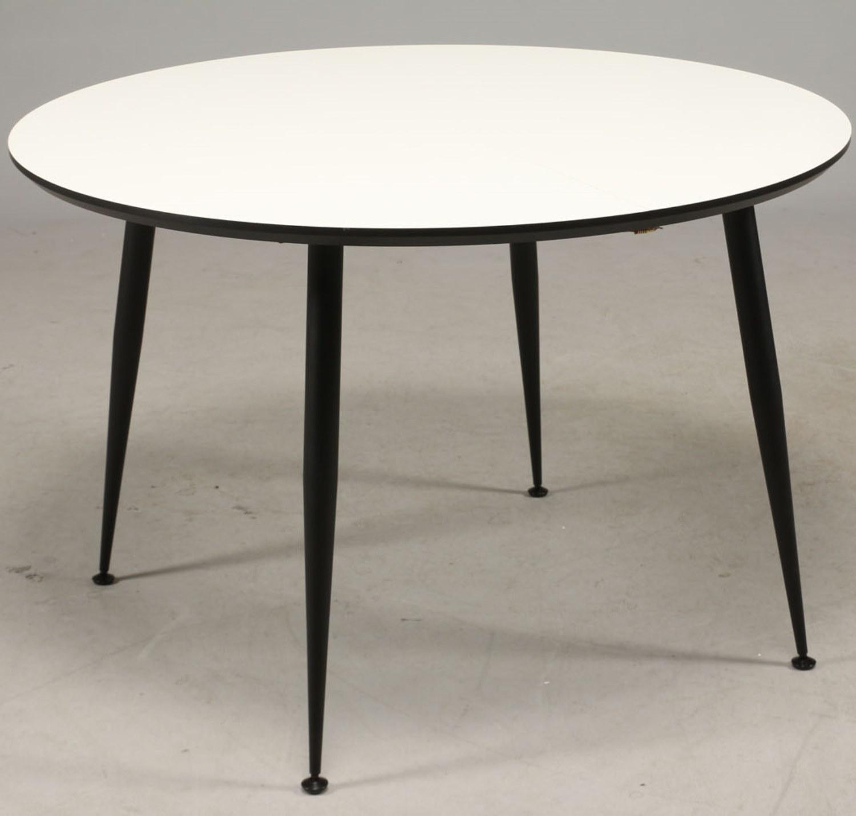 DT 110 - spisebord, hvid laminat med sorte metal ben - Spiseborde ...