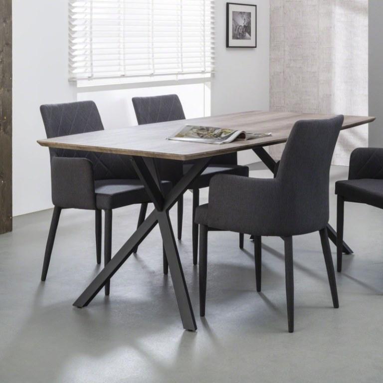 Kjempebra 3D - Rektangulær spisebord i antik ege look med størrelse 90 x 160 VR-12