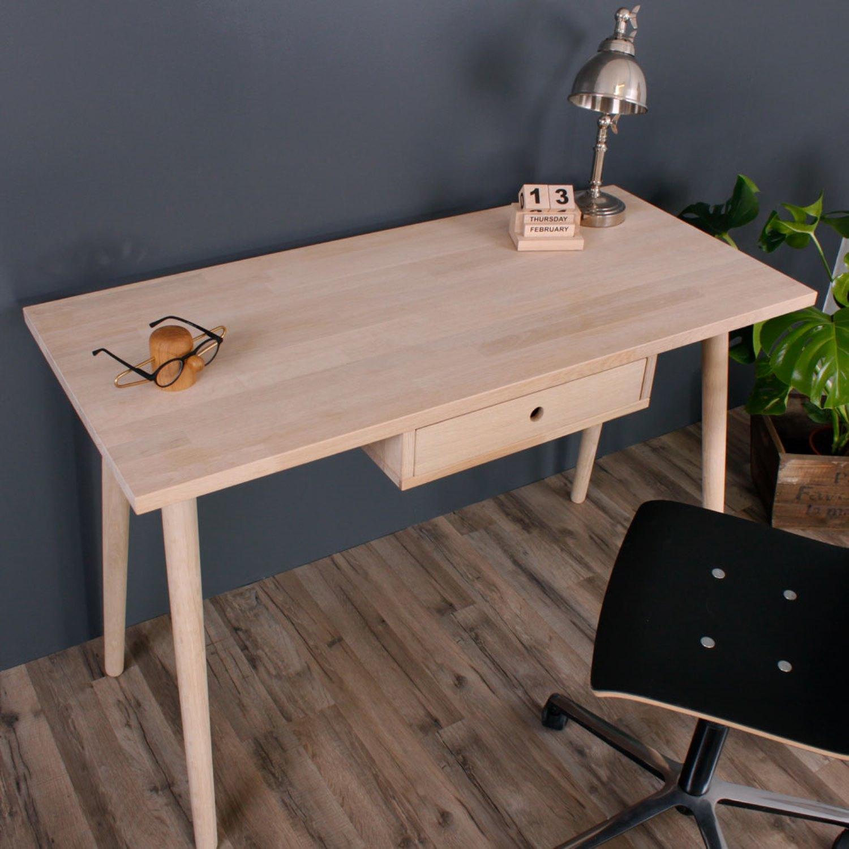 Splinterny Baltimore- Skrivebord med 1 træskuffe, eg - Skriveborde - 3-Nordic ND99