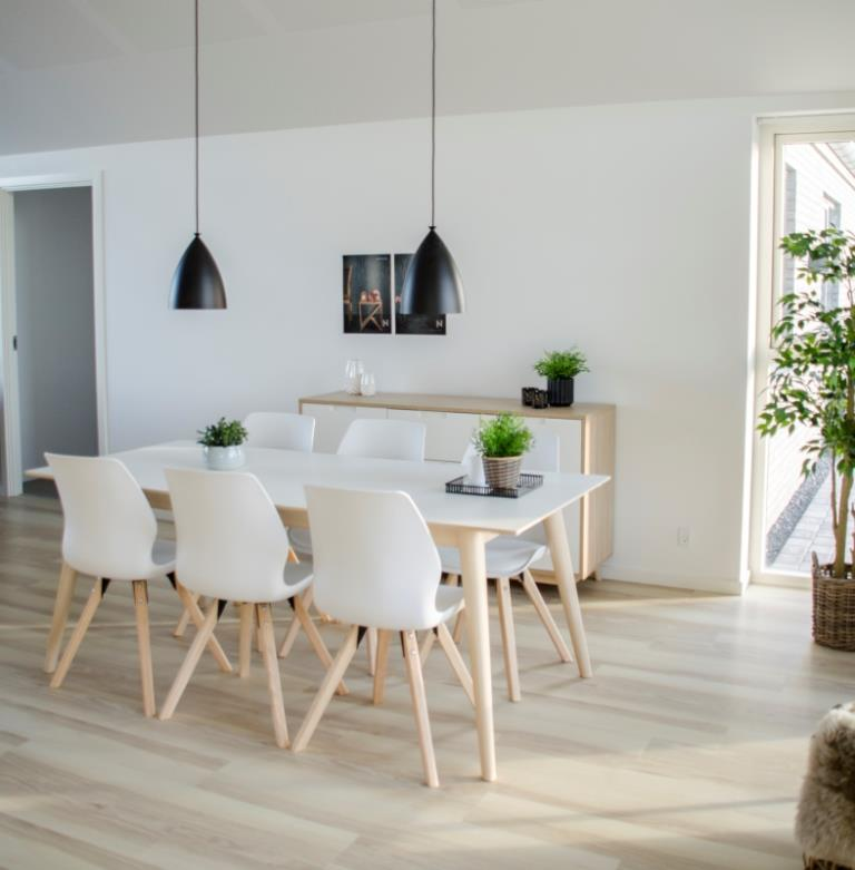 Alle nye Cross - Spisebord med tillægsplader i hvid højtrykslaminat og IJ02