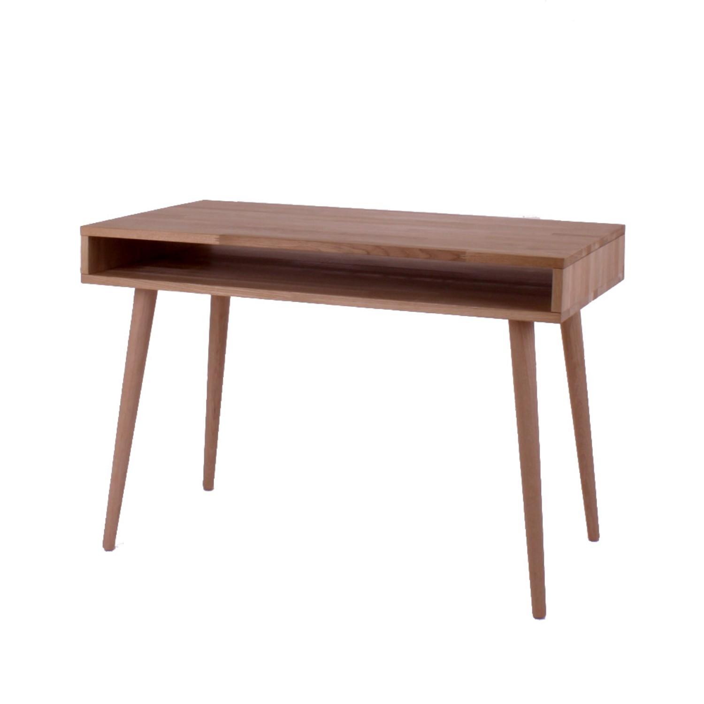 Godt New York - skrivebord med 1 rum , massiv eg - Skriveborde - 3-Nordic KQ91