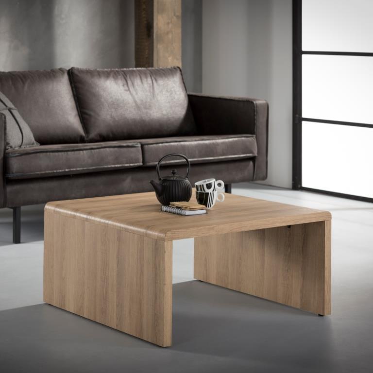 3D - sofabord hvidtonet ege look, 80 x 80 cm - Sofaborde i laminat ...